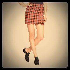 Junk Food Plaid Mini Skirt.